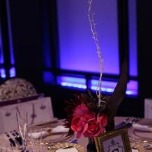 テーブルのお花も理想通りに。