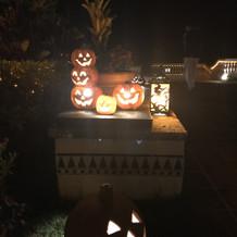 10月はハロウィン仕様でした