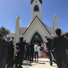 教会での退場