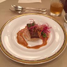 試食会にて初期お料理(お魚料理)