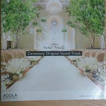 挙式時の音楽CD