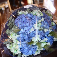 素敵な花束をもらいました
