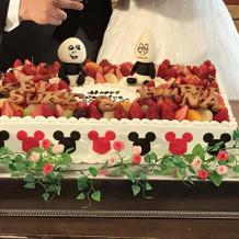 理想のケーキを可愛く作ってくれました。