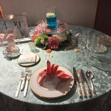 リトルマーメイドのテーブルコーディネイト