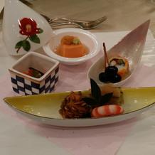 ブライダルフェアでの試食、前菜。