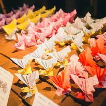 ゲストに選んで頂く祝い鶴