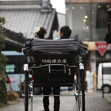人力車で散策。