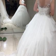 このドレスはサイズ小さめがなくて断念