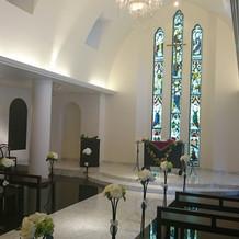 ステンドグラスが素敵な教会