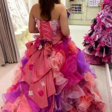 お色直しで着用したドレスです。