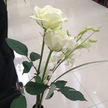 チャペルのお花です。生花ですよ!