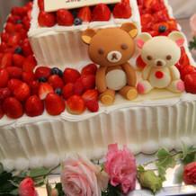 かわいくて大満足のケーキでした。
