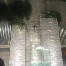天井が高くすごく素敵なチャペル