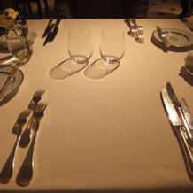 レストランで試食