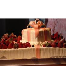 ケーキカット。