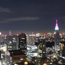 ホテルからの夜景です