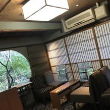 京都らしさがいっぱいの待合室