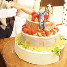 おうちをイメージしたウェデングケーキ