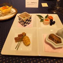 1万2千円和洋コース前菜
