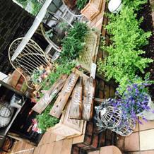 ガーデンに合った装飾がかわいいです
