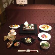 和食のコースの一例です。