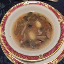 小口野菜と茸のブロス