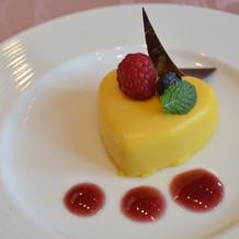 デザート。可愛いですね。