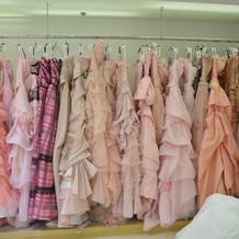 ピンクが多い印象でした。