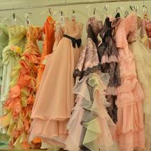 ドレスのグラデーション。。。
