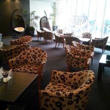 ゲスト用のカフェスペース