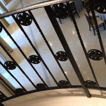 た大階段から