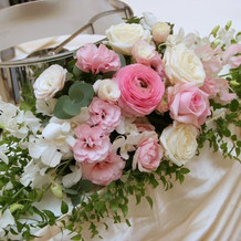 式場でのお花