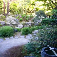 新郎新婦控室から見える日本庭園