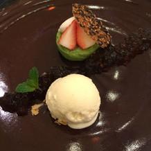 和食コースのデザート