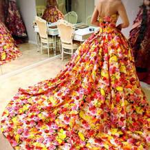 【試着】蜷川実花さんのドレス