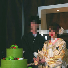 模造刀によるケーキ入刀