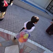 甥っ子が風船たくさん持ってくれてました