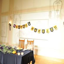 披露宴会場の飾り、メインテーブル