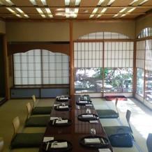茶寮。結納や大人の同窓会も行われる。