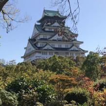 大阪城が綺麗に見えました