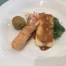 海老を使った創作料理