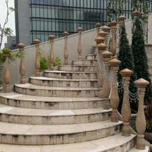 屋上の階段
