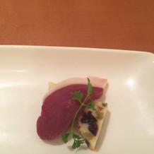 ブルーチーズと鴨肉