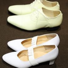 ウェディングドレス用の靴