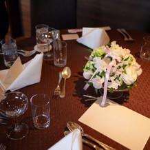 テーブルの小物配置