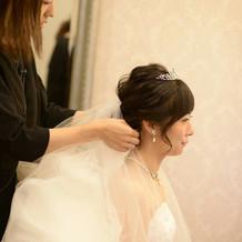 挙式時のヘアメイク