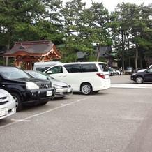 駐車場。広いです。