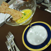 エビの冷製スープ