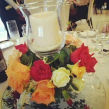 ゲスト卓のお花です