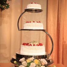 ケーキはスタンダードな三段のものを選択。